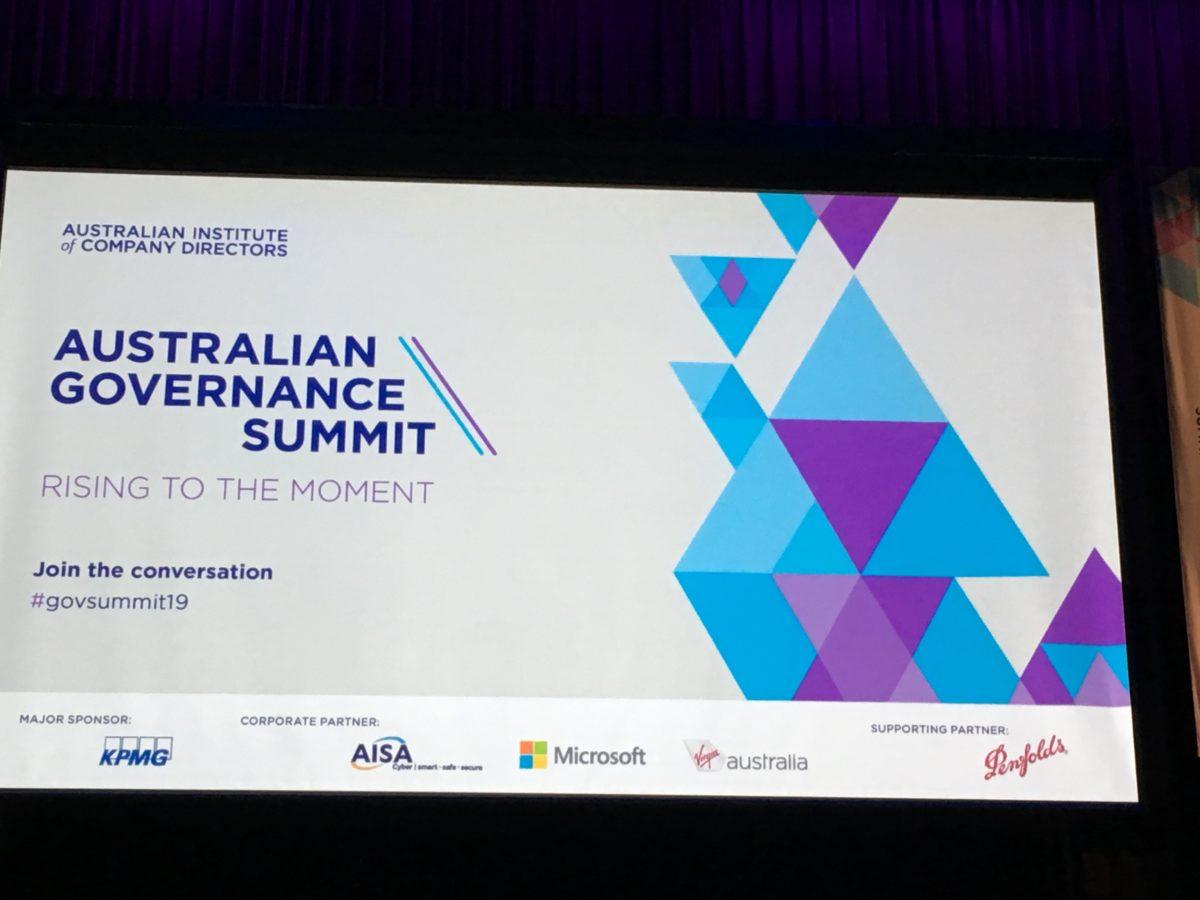 AICD Australian Governance Summit screen