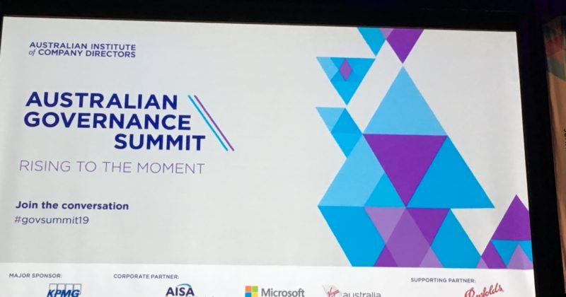 AICD Australian Governance Summit screen